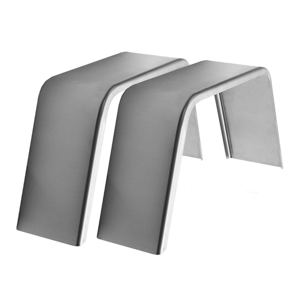 "2-Pack Steel Smooth Flat Top Trailer Fender 10"" X 34"" X 17"""