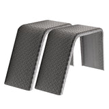 "2- Pack ToughGrade Steel Diamond Plate Flat Top Trailer Fender 9"" X 34"" X 17"""