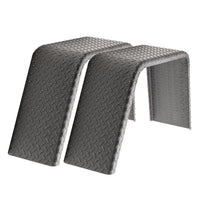 "2 pack Steel Diamond Plate Flat Top Trailer Fender 10"" X 34"" X 17"""
