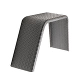 "Steel Diamond Plate Flat Top Trailer Fender 9"" X 34"" X 17"""