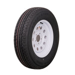"15"" White Mod Trailer Wheel ST205/75R15 Tire Mounted (5x4.5) Bolt Circle"