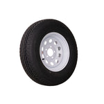"14"" White Mod Trailer Wheel  ST205/75R14 Tire Mounted (5x4.5) bolt circle"