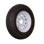 "14"" White Mod Trailer Wheel ST205/75D14 Tire Mounted (5x4.5) Bolt Circle"