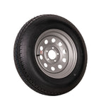 "15"" Silver Mod Trailer Wheel ST205/75D15 Tire Mounted (5x4.5) Bolt Circle"