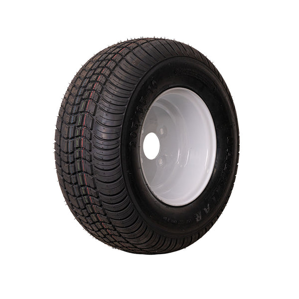 20.5x8x10 White Trailer Wheel (4x4) Bolt Circle