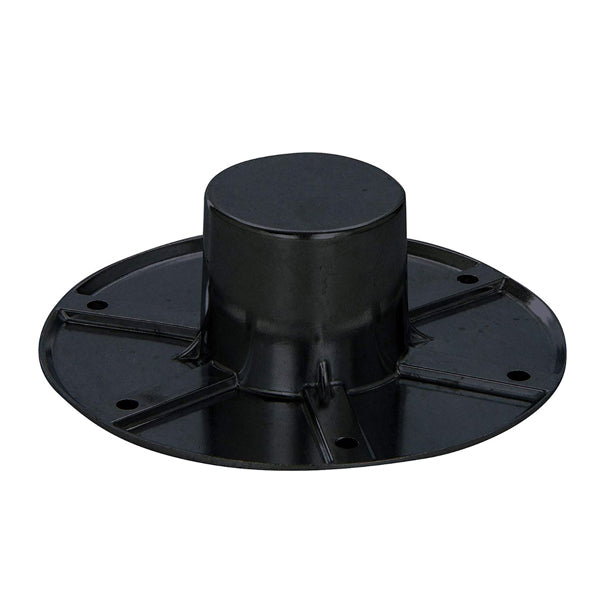 Flush Mount Black MA-1112B Pedestal Table Base