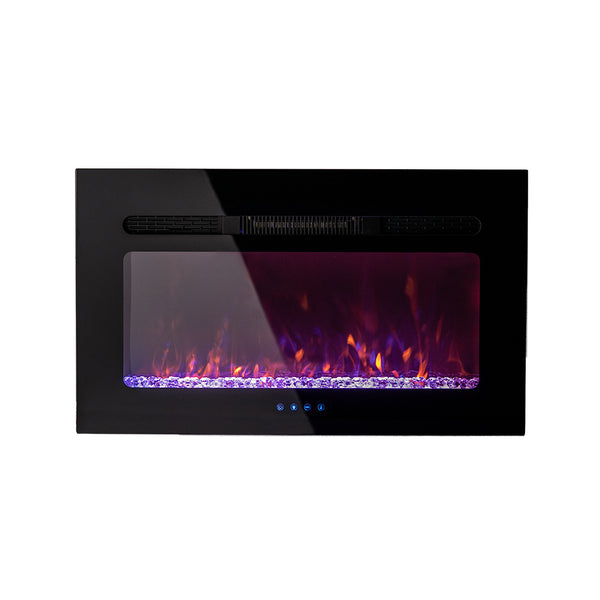 "Camper Comfort RV 30"" Crystal Design Flush Mount Fireplace 