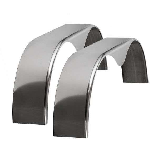 Tough Grade | Cargo Trailer Aluminum Smooth Tandem Teardrop Fender 9x72x20 | 2 pack