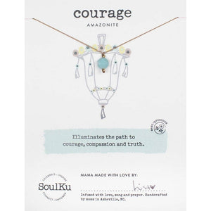 SoulKu - Lantern Necklace Amazonite - Courage