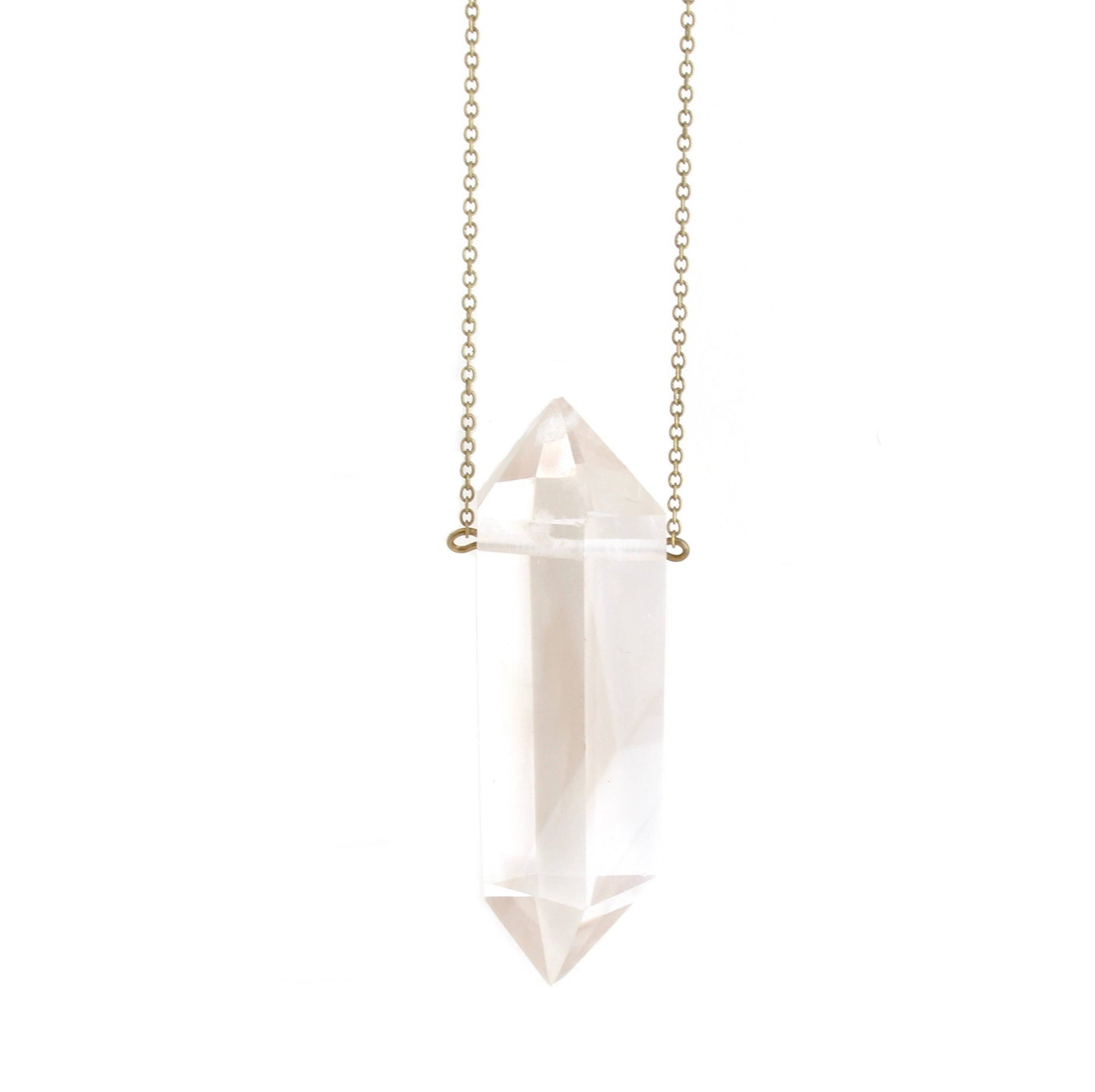 Crafts & Love - Hive XL Clear Quartz Necklace