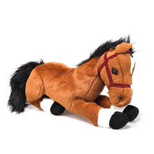 "Load image into Gallery viewer, Plushland - E1: Farm Group 14"" Resting Horse"