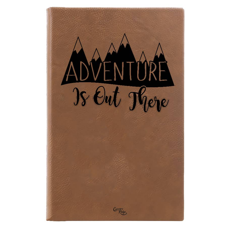 Carvers Ridge - Leather Journal - Adventure is Out There