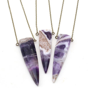 Crafts & Love - Venice Spike Necklace - Amethyst