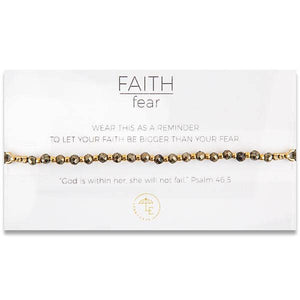 Lenny & Eva - FAITH over fear. Gemstone Bracelet - Pyrite