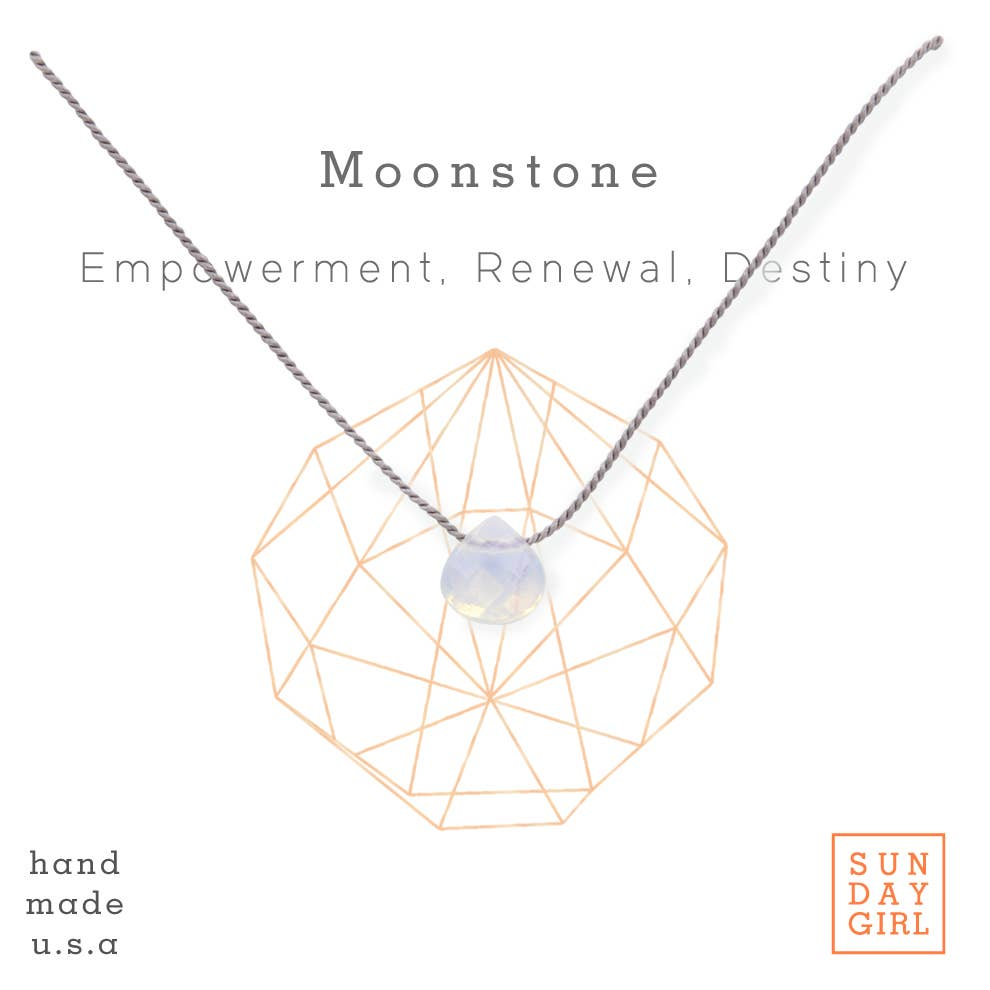 Sunday Girl by Amy DiLamarra - Crystal Intention Necklace - Moonstone