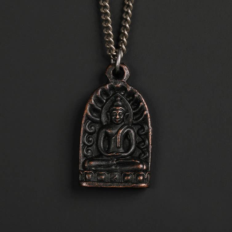 We Are All Smith - MEN'S BLACK BUDDHA NECKLACE NO. 5