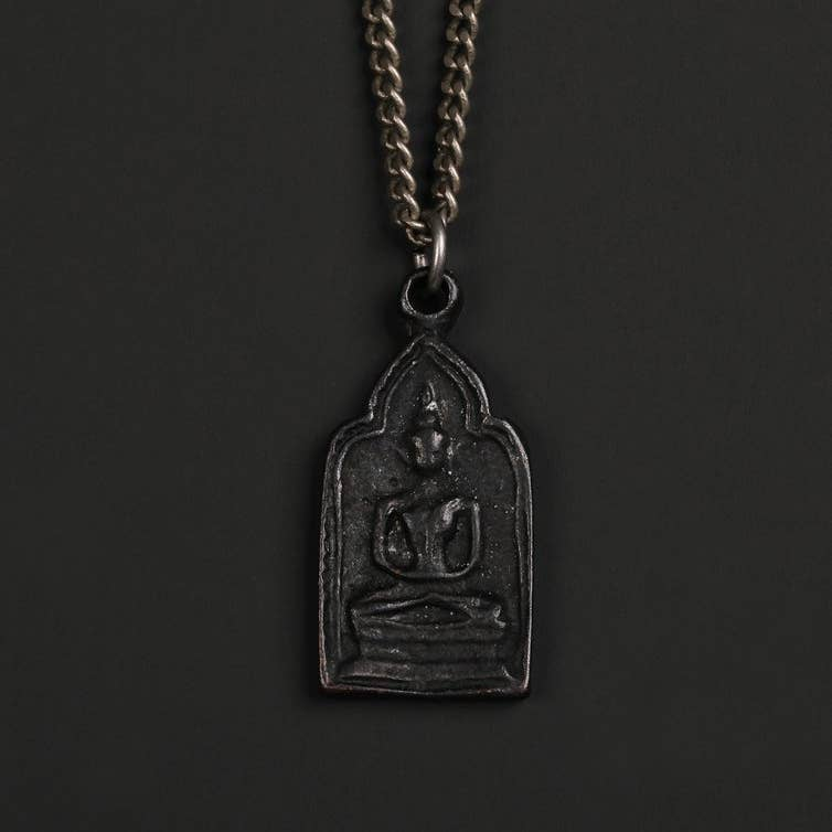 We Are All Smith - MEN'S BLACK BUDDHA NECKLACE