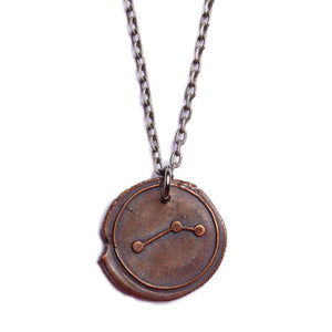 We Are All Smith - Wax Seal Aries Constellation Necklace