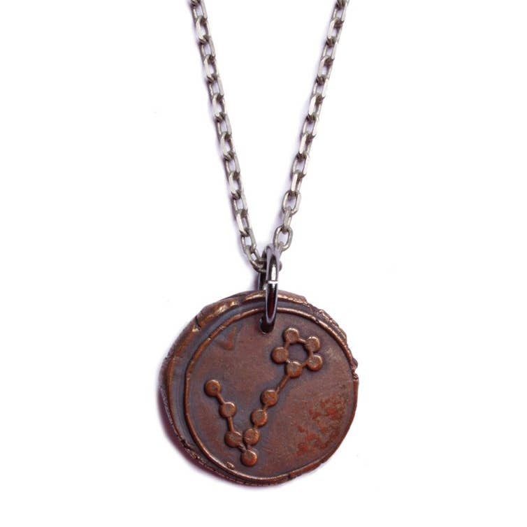 We Are All Smith - Wax Seal Pisces Constellation Necklace