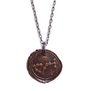 We Are All Smith - Wax Seal Scorpio Constellation Necklace