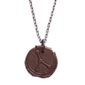 We Are All Smith - Wax Seal Cancer Constellation Necklace