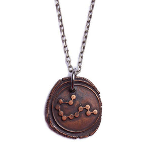 We Are All Smith - Wax Seal Aquarius Constellation Necklace