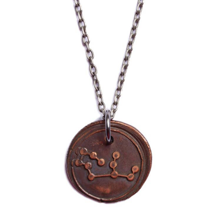 We Are All Smith - Wax Seal Virgo Constellation Necklace