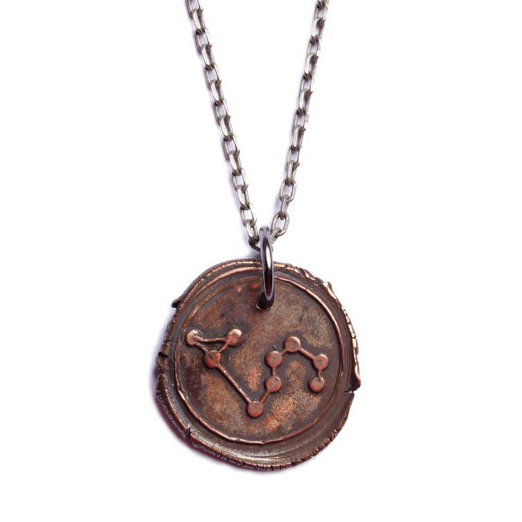 We Are All Smith - Wax Seal Leo Constellation Necklace