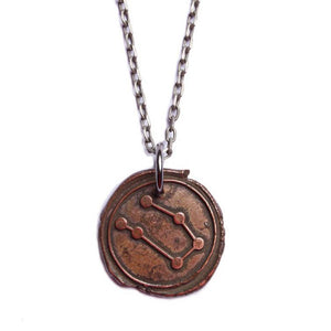 We Are All Smith - Wax Seal Gemini Constellation Necklace