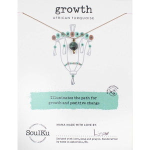 SoulKu - Lantern Necklace African Turquoise - Growth