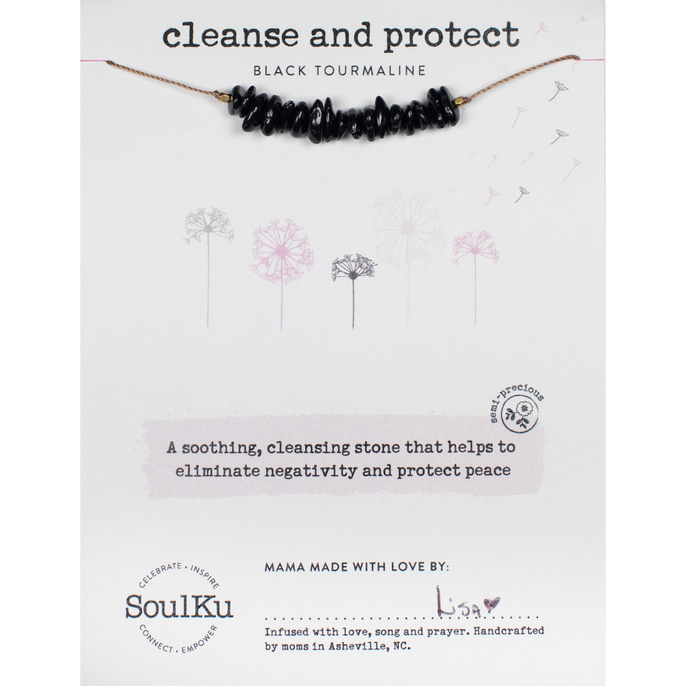 SoulKu - Seed Necklace Black Tourmaline - Cleanse & Protect