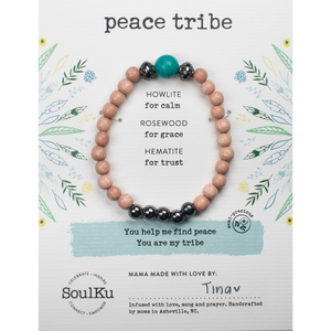 SoulKu - Howlite Gemstone Prayer Tribe Bracelet