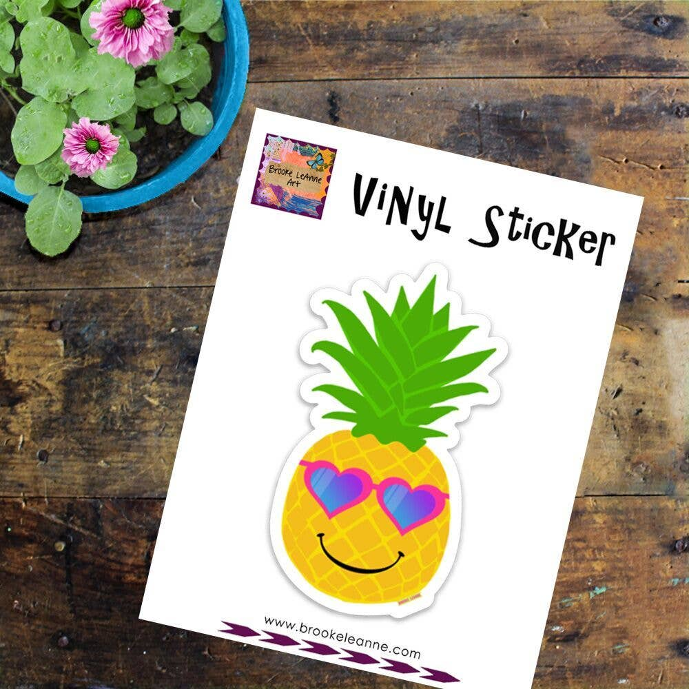 Brooke LeAnne - Pineapple Vinyl Sticker