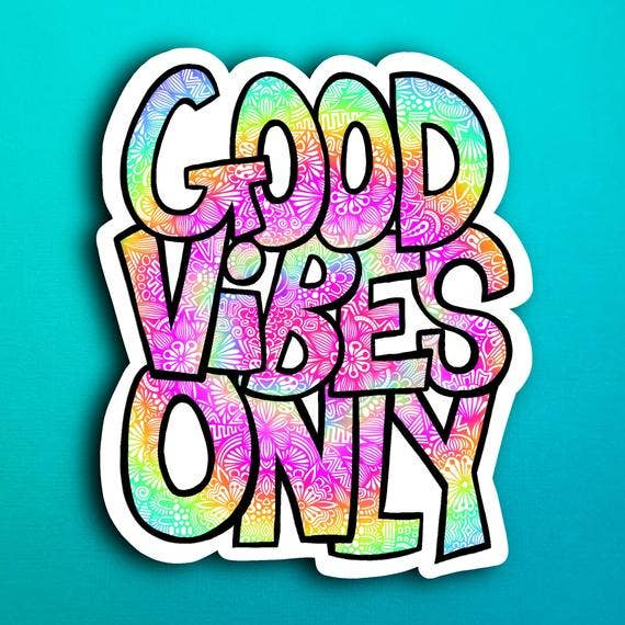 Zenspire Designs - Good Vibes Only Sticker