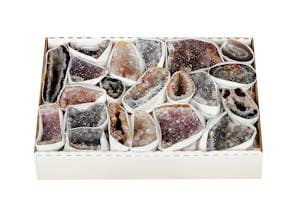 Natures Artifacts Inc - AGF2 - Agate Geodes Cluster Flat