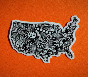 Zenspire Designs - U.S Sticker