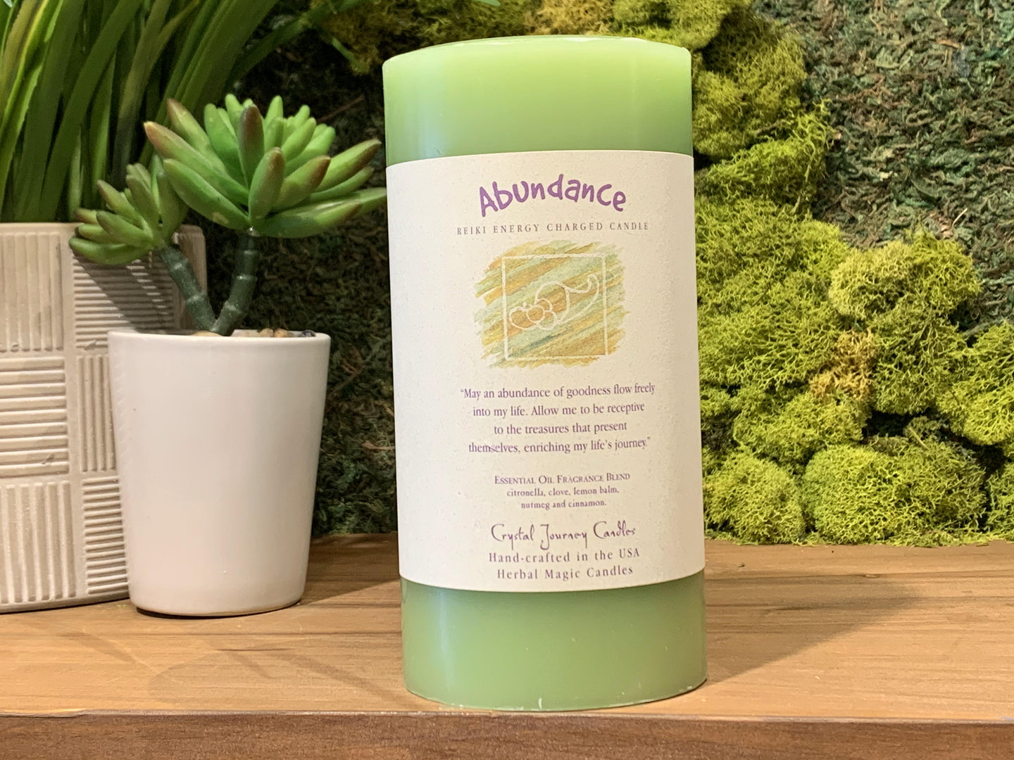 Abundance - Large Crystal Journey Candle