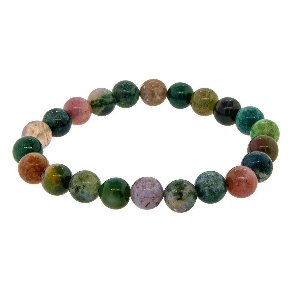 Elastic Bracelet 8mm Round Beads - Fancy Jasper (Each)