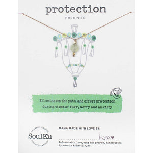 SoulKu - Lantern Necklace Prehnite - Protection