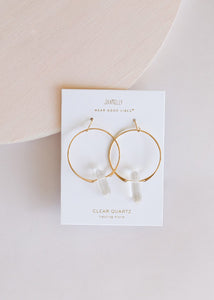 Jaxkelly Clear Quartz Hoop