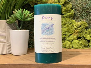 Peace - Large Crystal Journey Candle
