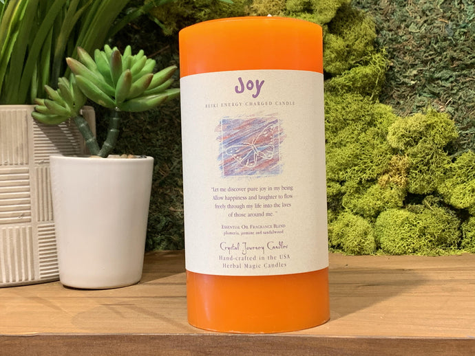 Joy - Large Crystal Journey Candle