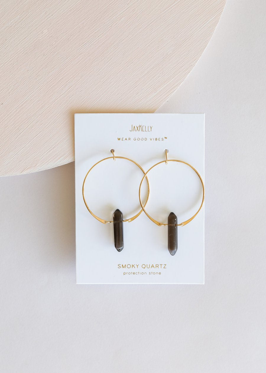 JaxKelly - Smoky Quartz Hoop