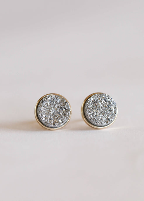 JaxKelly - Silver Druzy Clusters Earrings
