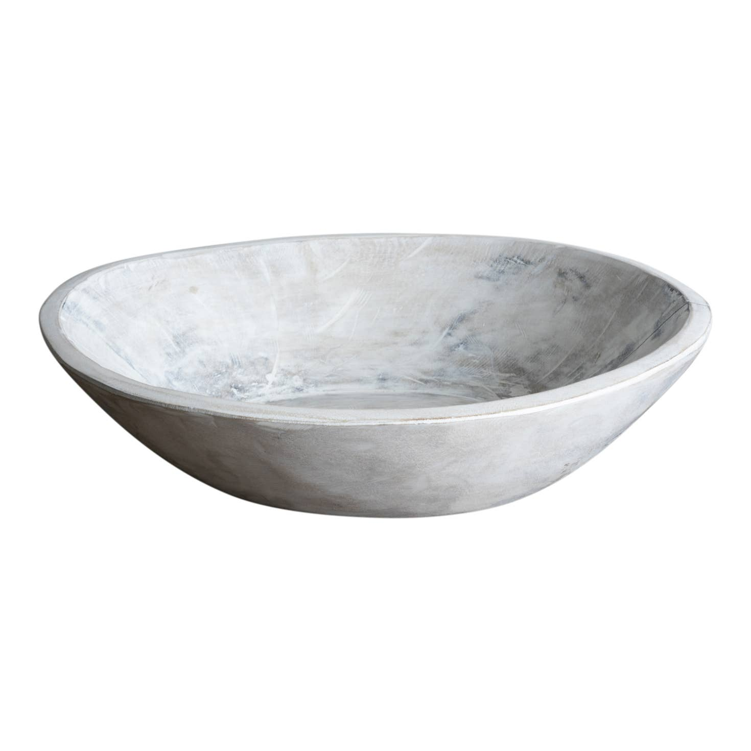 Made Market Co. - Found Dough Bowl White Wash Medium
