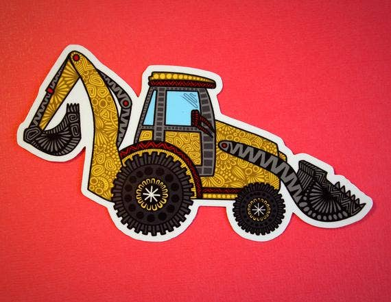 Zenspire Designs - Digger Truck Sticker