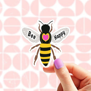 Brooke LeAnne - Bee Happy Vinyl Sticker