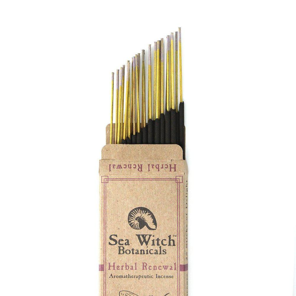 All-Natural Incense: Herbal Renewal - with Lavender & Rosemary Essential Oil