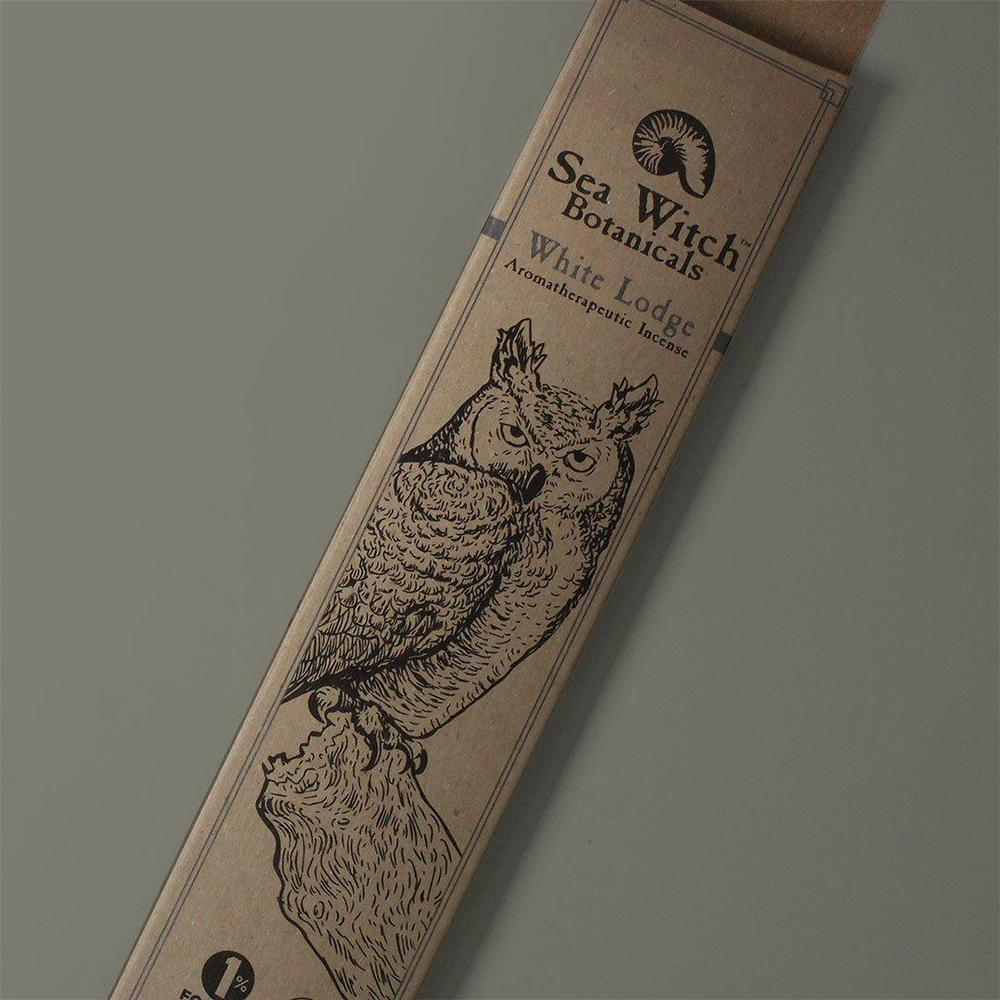 All-Natural Incense: White Lodge - with Cedarwood Atlas & Fir Needle Essential Oils