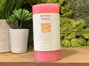 Manifest a Miracle - Large Crystal Journey Candle